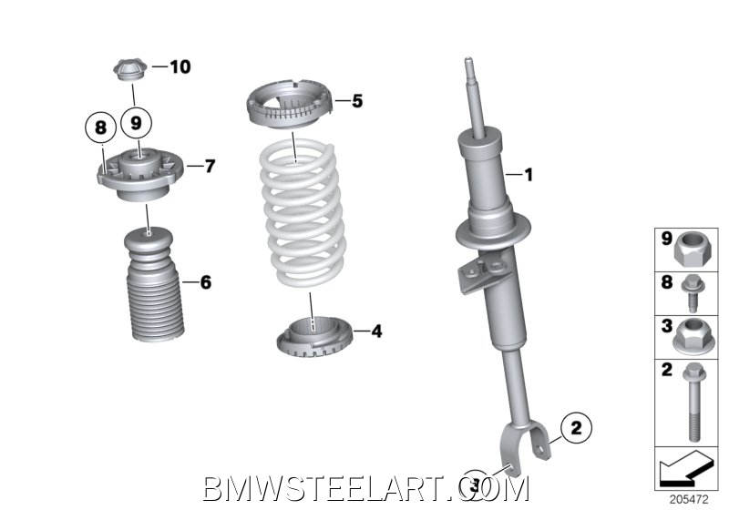 Mounting parts f front spring strut assy31_0877