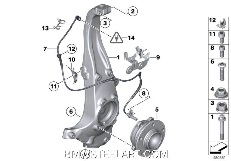 Carrier / wheel bearing, front31_0825
