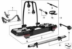 03_3367 Rear bicycle carrier, click-on