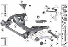 31_0824 Frnt axle support,wishbone/tension strut