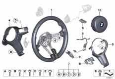 32_2235 M sports steer.-wheel, airbag, leather