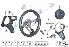 32_2161 M sports steer.-wheel, airbag, leather